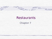 Chapter 7 - Restraurants