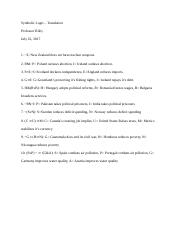 PHIL 310 Symbolic Logic - Translation.docx