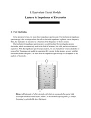 Impedance of Electrodes notes