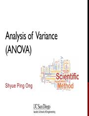 13 - Analysis of Variance