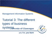 Tutorial 3 Types of business systems