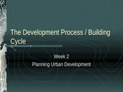 The Development Process week 2 - 3