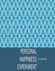 Personal Happiness experiment