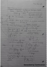 Class notes on differential equations and direction fields