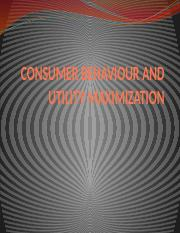 CONSUMER BEHAVIOUR AND UTILITY MAXIMIZATION (1).pptx