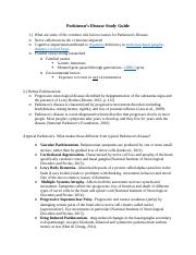 Parkinson's Disease Study Guide (1)