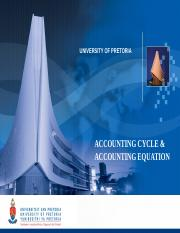 Accounting cycle and accounting equation Class notes (1)