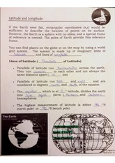 Lattitue and Longitude Class note