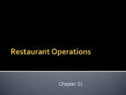 Chapter 21 Restaurant Operations - Copy
