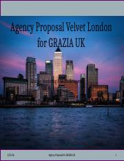 GRAZIA Agency Proposal