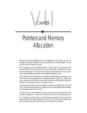 07 - Pointers and Memory Allocation.pdf