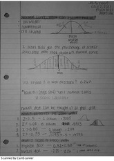 Normal Curve Notes