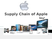 Supply Chain of Apple Inc