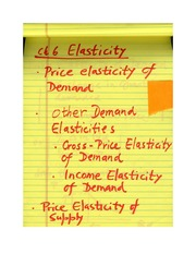 Chapter 6: Elasticity