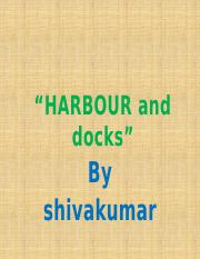 HARBOUR PLANNING