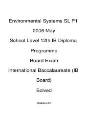 (www.entrance-exam.net)-IB Board-12th IB Diploma Programme- Environmental Systems SL P1 Sample Paper
