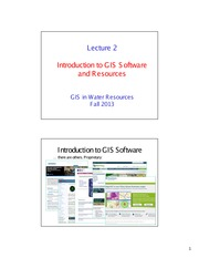 Lecture on Intro to ArcGIS (Part 1)