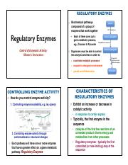 Lecture_1-Regulatory Enzymes...Part 1-Spring 2016