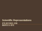 Scientific Representations 030810