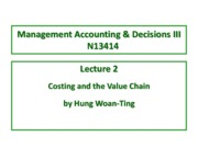 Lecture 2 Costing and the Value Chain