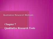 Ch_07_Qualitative Research Tools