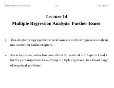 Lecture+14+Multiple+Regression+Analysis+-+Further+Issues