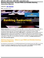 banking-awareness-get-free-reliable-banking-awareness-material