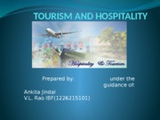 BEP- TOURISM AND HOSPITALITY