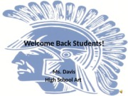 Welcome Back Students!- Art