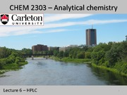CHEM 2303 - Lecture 6 - March 6 2015 - Liquid Chromatography-Post Lecture