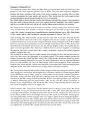 r fever summary essay but through the negative aspects of  2 pages summary of r fever