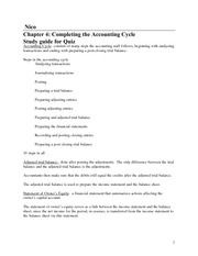 chapter 4 quiz study guide accounting cycle