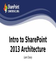 Intro to SharePoint 2013 Architecture.pptx