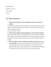 Unit 7 assignment 2 Database and Concepts.doc