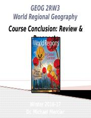 GEOG 2RW3 - Winter 2017 - Lecture 27 - Course Conclusion - Review & Prospects - student-A2L.pptx
