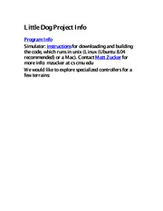 Project - Little Dog