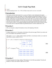 Lab 4 Solution Summer 2014 on Differential Equations and Linear Algebra