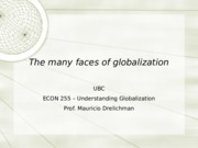 Lecture 2 - Many Faces of Globalization