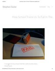 How School Trains Us To Fail In The Real World _ Stephen Guise.pdf