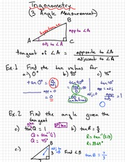 Trigonometry Right Notes 2011