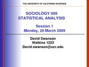 UCR SOC 005 STAT SPR 2010 Session 1 V1