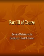 Lecture 11 Intro to Part III of Course and Research Methods.ppt