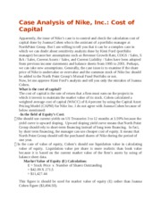 Heinz Case Study   Heinz Estimating the Cost of Capital in Unc