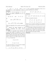 Math 1172 12.1 & 12.2 Solutions Sp 2014