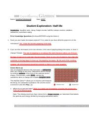 Use the Gizmo to find the half life of Isotope B What is ...