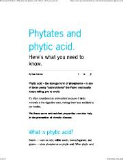 Phytates and phytic acid. Here's what you need to know