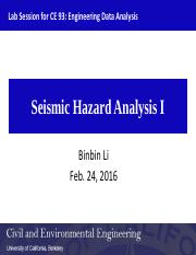 Lab5_Seismic hazard analysis I