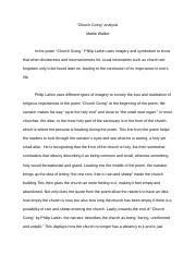 Poem Analysis Essay
