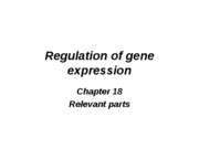 Chapter 18 part 1 BGene regulation in Porkaryotes