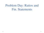 Problem Day Ratios and Fin Stmts Blackboard